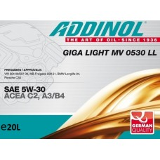 Addinol Giga Light MV 0530 LL, 20л