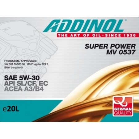 Addinol Super Power MV 0537, 20л
